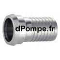 Raccord DIN 11 851 Inox 316L Femelle DN 25 Douille Crantée DN 25 - dPompe.fr