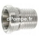 Raccord DIN 11 851 Inox 316L Mâle DN 100 Douille Crantée à Collerette DN 100/102 - dPompe.fr