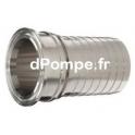 Raccord TRI-CLAMP ISO norm Ø 50,5 mm Cannelé à Collerette Ø 25 mm - dPompe.fr