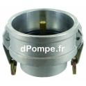 "Coupleur API Vapeur Aluminium DN 80 x Femelle 3"" (80 x 90) - dPompe.fr"