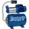 Surpresseur Speroni RAM 50/100L Inox de 0,6 à 9 m3/h entre 57 et 18 m HMT Mono 230 V 1,9 kW Réservoir à Vessie - dPompe