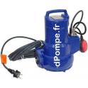 Pompe de Relevage KSB AMA PORTER F 501 SE de 5 à 20 m3/h entre 10,5 et 4 m HMT Mono 230 V 1,1 kW - dPompe.fr
