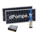 Pompe Immergée Solaire SUNNYPUMP KPS-100-14-2-200 de 0,7 à 1,7 m3/h entre 27 et 1 m HMT 0,15 kW - dPompe.fr