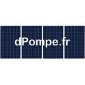 Kit de 4 Panneaux Photovoltaïques 270 W avec Support Aluminium, Câble Solaire et Kit de Mise à la Terre - dPompe.fr