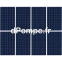 Kit de 8 Panneaux Photovoltaïques 270 W avec Support Aluminium, Câble Solaire et Kit de Mise à la Terre - dPompe.fr
