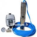 """Pompe Surpresseur Immergée Inox 3"""" pouces WPS CP 1-125 WELL PUMPS 1500 W 230 Volts de 0,5 a 2 m3/h entre 166 et 60 m HMT"""