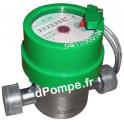 """Compteur Volumétrique Inox 304 DHV1300-8110-r0,01 - 3/4"""" (20 x 27) 1 m3/h 30°C max 100 Puls/L - dPompe.fr"""