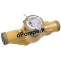 """Compteur Jet Multiple Téflonné DHM1400-30260 1""""1/2 (40 x 49) 10 m3/h 90°C max"""