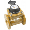 Compteur Woltmann Téflonné DHW1400-50200 DN 50 - 40 m3/h 90°C max à 1 impulsion x 100 L - dPompe.fr