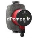 Circulateur Inox à Vitesse Variable Grundfos ALPHA1 25-60 N 180 de 0,65 à 3,4 m3/h entre 6,2 et 1 m HMT Mono 230 V 34 W - dPompe