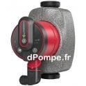 Circulateur à Vitesse Variable Grundfos ALPHA2 25-60 130 de 0,65 à 3,4 m3/h entre 6 et 1 m HMT Mono 230 V 3 à 34 W - dPompe.fr