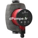 Circulateur Inox à Vitesse Variable Grundfos ALPHA2 25-60 N 180 de 0,7 à 3,4 m3/h entre 6 et 1 m HMT Mono 230 V 34 W - dPompe.fr