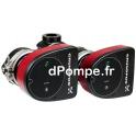"Circulateur Électronique Double Grundfos MAGNA1 D 32-40 Fileté 2"" de 4 à 11,5 m3/h entre 4,3 et 1,5 m HMT Mono 230 V 73 W - dPom"