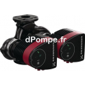 Circulateur Électronique Double Grundfos MAGNA1 D 32-100 F à Brides de 4,5 à 16 m3/h entre 11 et 2,5 m HMT Mono 230 V 175 W - dP