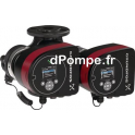 Circulateur Électronique Double Grundfos MAGNA3 D 40-100 F à Brides de 12 à 37 m3/h entre 10 et 2,5 m HMT Mono 230 V 359 W - dPo