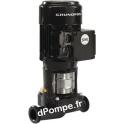 Pompe en Ligne Grundfos TP 32-50/2 pôles de 1 à 7,2 m3/h entre 4,7 et 1,5 m HMT Mono 220 240 V 0,12 kW - dPompe.fr