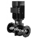 Pompe en Ligne Grundfos TP 40-190/2 B Bronze Eau Chaude de 1,5 à 15 m3/h entre 17,8 et 8 m HMT Tri 380 415 V 0,75 kW - dPompe.fr