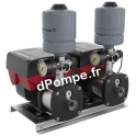 Surpresseur Grundfos CMBE Twin 3-62 Sicherungskasten de 0,5 à 5,6 m3/h entre 64,5 et 30,5 m HMT Mono 200 240 V 1,1 kW - dPompe.f