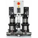 Surpresseur Grundfos HYDRO MULTI-S 2 CR 3-7/P de 2,3 à 8,5 m3/h entre 43 et 20 m HMT Mono 220 240 V 0,55 kW - dPompe.fr