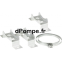 Pieds Support pour Chemise de Refroidissement Grundfos 3 Étriers H200, b380, B430 - dPompe.fr