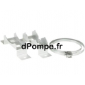 Pieds Support pour Chemise de Refroidissement Grundfos 2 Étriers H200, b380, B430 - dPompe.fr