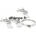 Pieds Support pour Chemise de Refroidissement Grundfos 3 Étriers H225, b410, B460 - dPompe.fr
