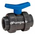 """Vanne d'Isolement PVC Grundfos PN10 Taraudée 1""""1/2 (40 x 49) - dPompe.fr"""