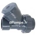 """Clapet Anti-Retour à Boule PVC Grundfos PN10 Taraudé 1""""1/2 (40 x 49) - dPompe.fr"""