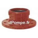 Raccord à Bride Fonte Grundfos DN 150 Ø Intérieur 160 mm pour Tube PVC avec Joint à Lèvre - dPompe.fr