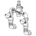 """Kit de Refoulement Double Grundfos 1""""1/2 avec Raccords, Vanne et Clapets Anti-Retour - dPompe.fr"""