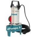 Pompe de Relevage Vortex Calpeda GQSM 40-9 de 1,5 à 21 m3/h entre 8,8 et 0,9 m HMT Mono 230 V 0,45 kW avec Flotteur - dPompe.fr