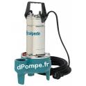 Pompe de Relevage Vortex Calpeda GQSM 40-9 SG de 1,5 à 21 m3/h entre 8,8 et 0,9 m HMT Mono 230 V 0,45 kW - dPompe.fr