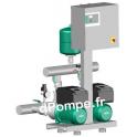 Surpresseur 2 Pompes Wilo Comfort-Vario COR-2 MHIE 403/ECe de 2 à 21 m3/h entre 47,5 et 7 m HMT Tri 400 V 1,1 kW - dPompe.fr