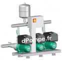Surpresseur 3 Pompes Wilo Comfort-Vario COR-3 MHIE 205/MS de 1 à 20 m3/h entre 72 et 5 m HMT Tri 400 V 1,1 kW - dPompe.fr