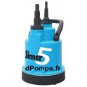 Pompe Serpillière Dab SIMER 5 de 0,6 à 4,3 m3/h entre 6 et 1 m HMT Mono 230 V 0,19 kW - dPompe.fr