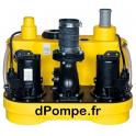Station de Relevage Dab COMPLI 1010/4/BWE de 13 à 52 m3/h entre 6 et 1 m HMT Mono 230 V 1,1 kW - dPompe.fr