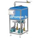 Gestionnaire d'Eau de Pluie Calpeda GEP-TWIN150 META L PZ de 2 à 10 m3/h entre 57 et 20 m HMT Mono 230 V 2 x 1,1 kW - dPompe.fr