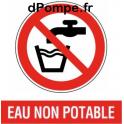 """4 Autocollants """"Eau Non Potable"""" - dPompe.fr"""