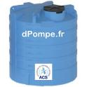 Cuve de Stockage Aérienne ACS Calpeda CVC 12500 Litres Trou d'Homme 550 mm - dPompe.fr