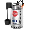 Pompe de Drainage Pedrollo RXm 5 GM de 3,6 à 19,2 m3/h entre 17,6 et 5 m HMT Mono 230 V 1,1 kW