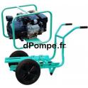 Motopompe Thermoplastique P52 EX Brouette Joints Viton Essence 45 m3/h max à 38 m HMT - dPompe.fr