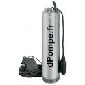 """Pompe Immergée 6"""" Speroni SCMX 3-4/S de 0,6 à 4,5 m3/h entre 39 et 12 m HMT Mono 230 V 0,55 kW - dPompe.fr"""