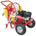 Motopompe Airmec MSHP 50-T Chariot Essence de 3,6 à 17 m3/h entre 75 et 22,5 m HMT 6,5 cv - dPompe.fr