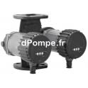 Circulateur Double Ebara Ego TC easy 40-100F Fonte de 2 à 10 m3/h entre 10 et 1,5 m HMT Mono 230 V 0,18 kW