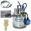 Pompe Vide Cave Renson avec Accessoires de 3 à 18 m3/h entre 13 et 1,5 m HMT Mono 230 V 0,75 kW - dPompe.fr