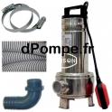 Pompe de Relevage Renson avec Accessoires de 3 à 18 m3/h entre 8,4 et 3,4 m HMT Mono 230 V 0,55 kW - dPompe.fr