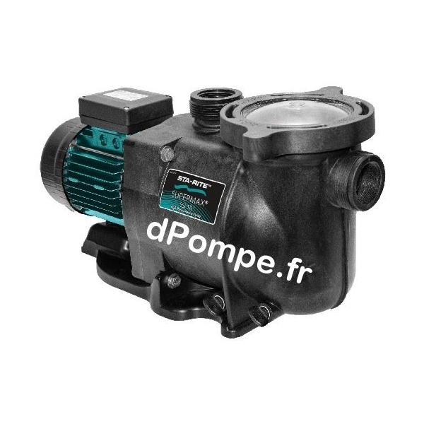 Pompe de Piscine Sta-Rite SUPERMAX S5P1RH1 de 3 à 35 m3/h entre 21,8 et 6,3 m HMT Mono 220 240 V 2,2 kW