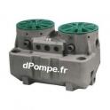 Station de Relevage 2 Pompes Flygt Micro 6+6 PA DXVM50-11 de 6 à 27 m3/h entre 8,6 et 3,7 m HMT Mono 220/240 V 1,1 kW