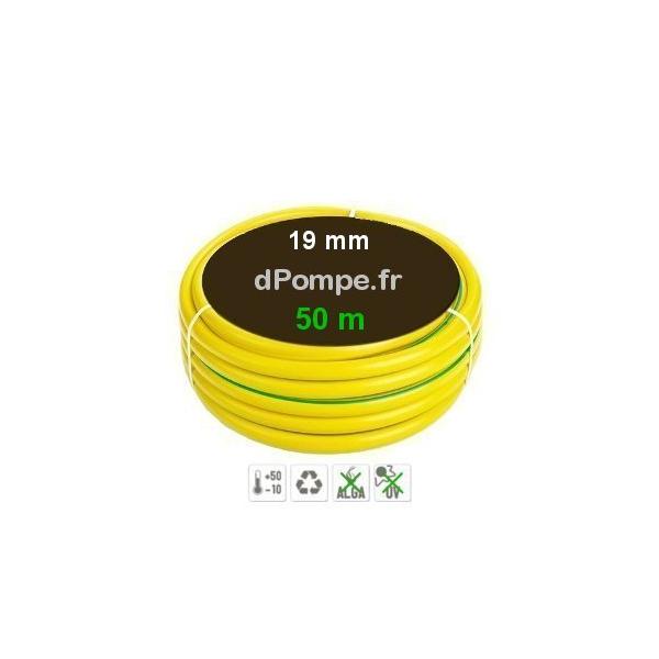 tuyau d 39 arrosage jaune bande verte 8 bars int 19 mm. Black Bedroom Furniture Sets. Home Design Ideas