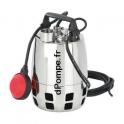Pompe de Relevage Vortex Calpeda GXV 25-6 - 20 M de 3 à 10,2 m3/h entre 5,2 et 1,5 m HMT Mono 230 V 0,25 kW